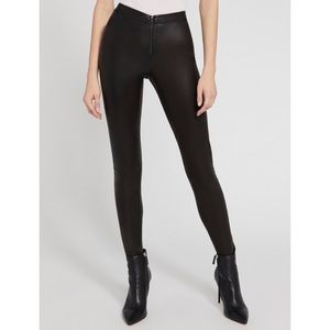 Alice + Olivia front zip leather legging skinny